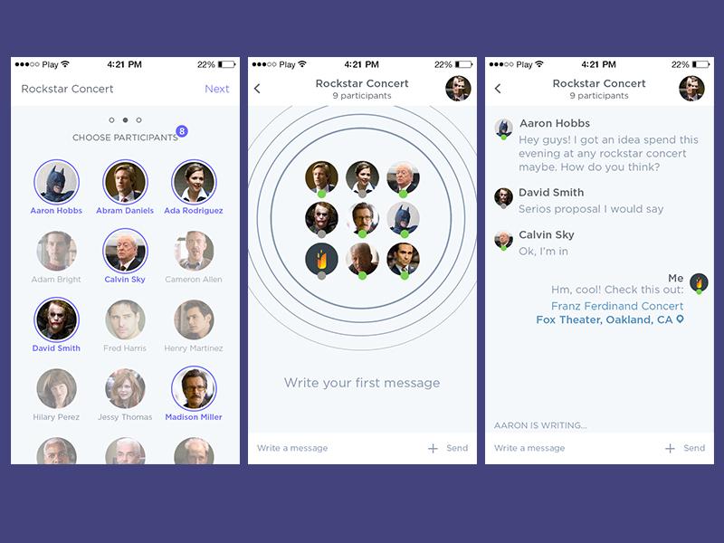 Group Chat App By Fireart Studio Dribbble Dribbble