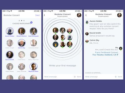 Group chat app appstore app chat ui ux design ios fireart studio fireart