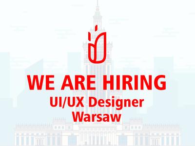 We Are Hiring warsaw ux ui designer hiring vacancy design work fireart studio fireart