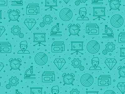 Rebranding Pattern icon target guy business diamond money microscope b2b pattern fireart studio fireart
