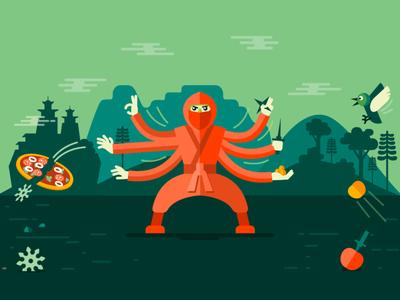Quick Reflexes shuriken google play pizza ninja game banner google play games google fireart studio fireart