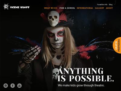 Theatre Website kids video website design