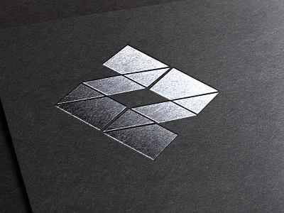 Logo geometric foil stamp logo