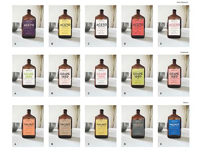 Color play color palette oil product label hipster vintage