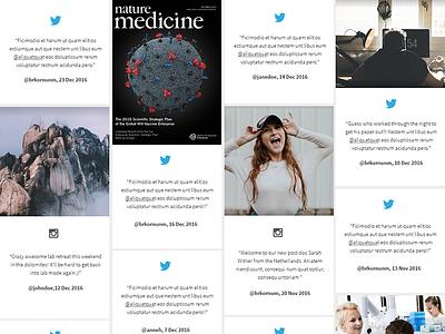 Social Feed science instagram twitter social media website