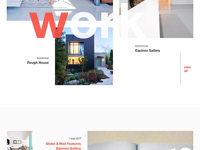 Web layout glimpse website design fluid type architects