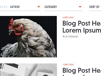 Blog overview web design ui blog