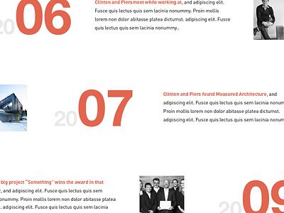 Milestones typography timeline we design
