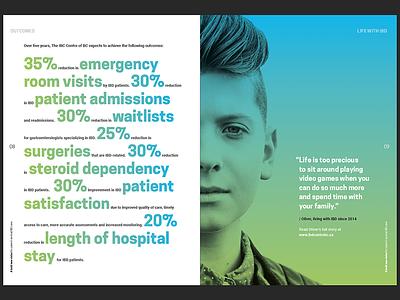 Brochure design gradient healthcare print design brochure