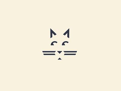 A cat cat illustration logo