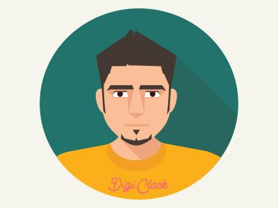 self portrait flat design by amirde dribbble