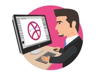 Designing Dribbble Logo