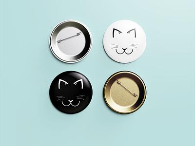 Michos - Pin Button Mockup isotipo adobe illustrator design branding pin