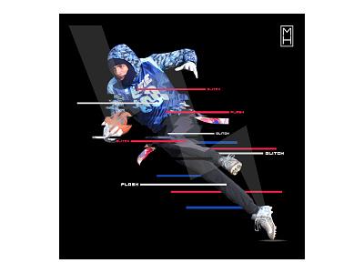 GT Roberts is Flash photoshop glitch sports graphics sports design social media mhdesigns uline xffl flash 99