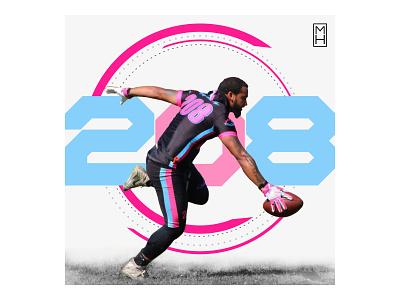 Jay Millan is Money 208 flag football xffl sports graphics sports design social media photoshop mhdesigns