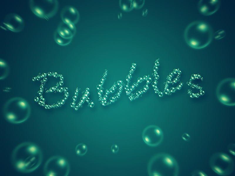 Bubbles work in progress tutorial brush bubbles typography photoshop