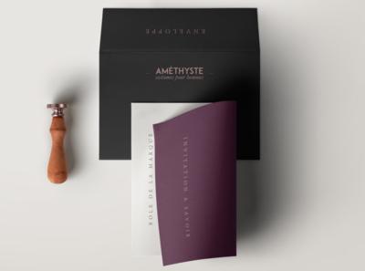 Améthyste_01 logo illustration design branding