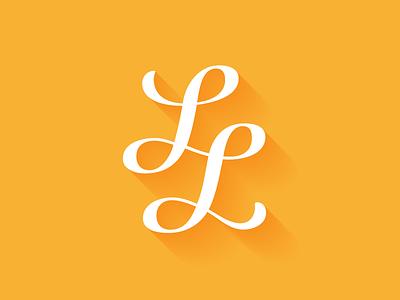 LL monogram branding monogram logotype logo vector lettering typography type