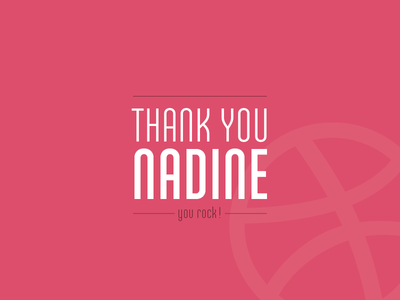 Thank you Nadine ! ando pink thanks invite