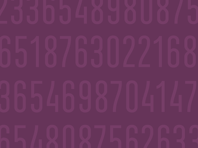 Ando digits typography ando type font