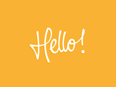 Hello ! lettering handlettering typography type calligraphy