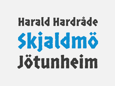 Norse heavy nordic viking norse typedesign type font