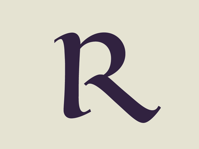 R calligraphy font type