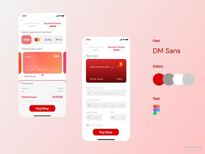 Daily UI #002 - Checkout red checkout figma daily ux ui mobile design dailyui app