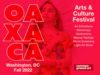 Oaxaca Arts and Culture Festival print promotion logo design ad advertising poster branding graphic design