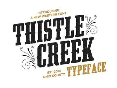 Thistlecreek font typography thistlecreek western cowboy retro vintage