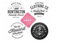Freebie Vintage badges