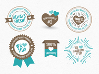 Favourite Badges Vector Freebie :)