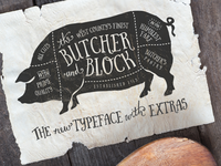 Butcher and Block Typeface
