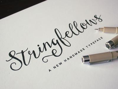 Stringfellows typography illustrated wedding handlettering romantic font script type handwritten custom whimsical ink