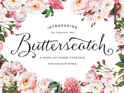 8butter logo lettering typeface font type script hand drawn vintage