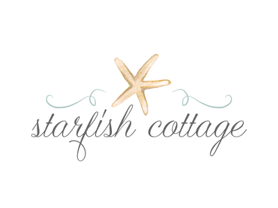 Watercolor seaside theme logo starfish seaside logo watercolor