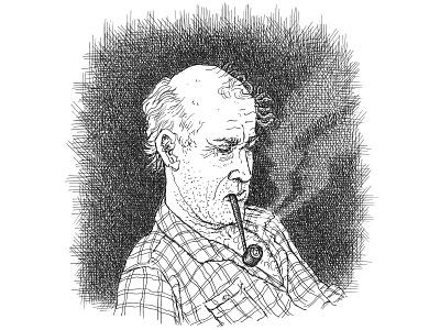 Portrait Sketch pen and ink portrait sketch artist ink hand drawn art artwork drawing illustration
