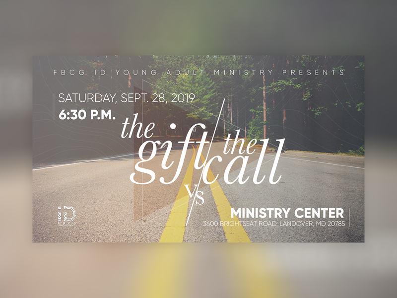 The Gift vs. The Call church typography god title screen sermon series sermon graphic sermon art cover church design sermon