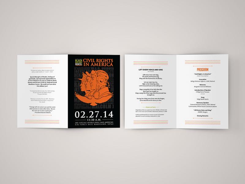 Bi-Fold Brochure Design typography print design tuskegee illustration design branding design illustration design air national guard black history month bifold brochure