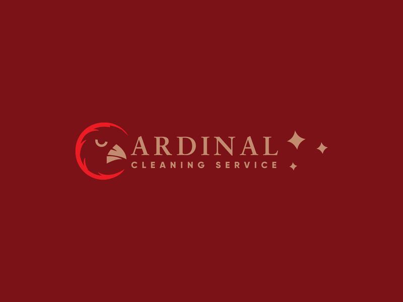 Cardinal Cleaning Service mordern minimalist minimal logo design cleaning logo icon flat design cleaning branding brand identity brand