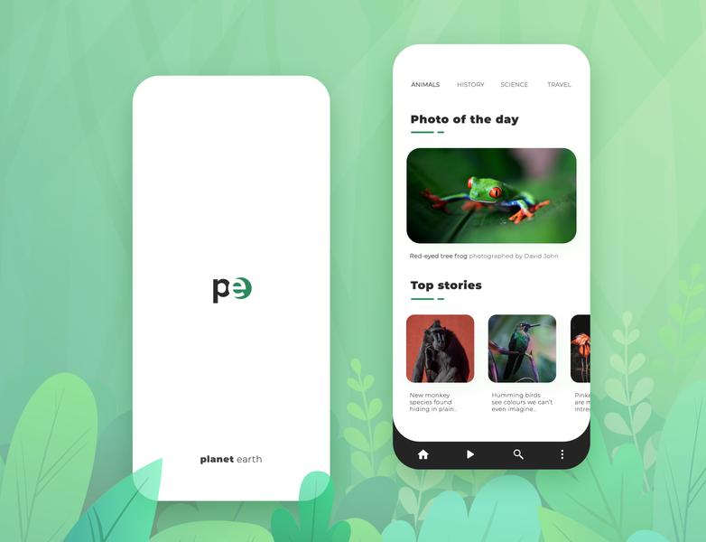 Planet earth - App for the everyday explorer information wildlife explore nature animal minimal design app branding ux ui