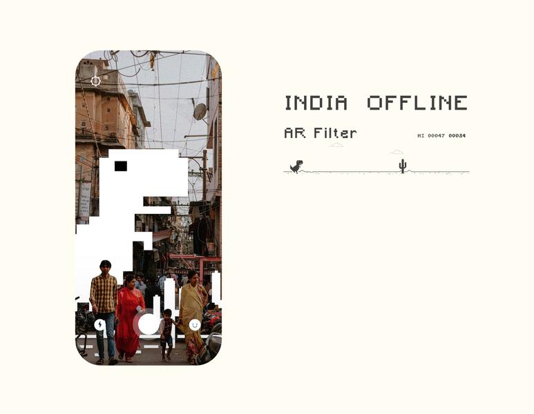 India Offline - AR Filter offline instagram filter augmented reality vector information explore ui ux minimal design app