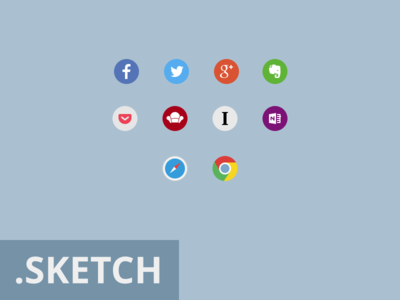 Social Icons + .sketch file
