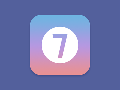 Icon for an upcoming app flat clean seven icon app ios iphone