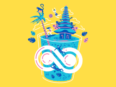 Bali t-shirt Illustration