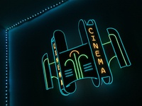 Neon Cinema Sign