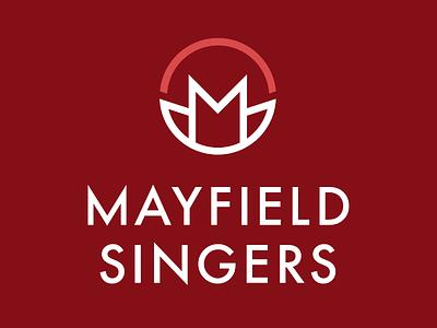 Mayfield Singers Logo Redesign choir music flower floral red rebrand logo
