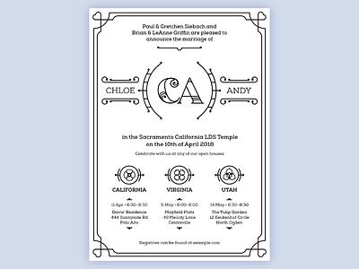 My Wedding Invitation! wedding line art invitation