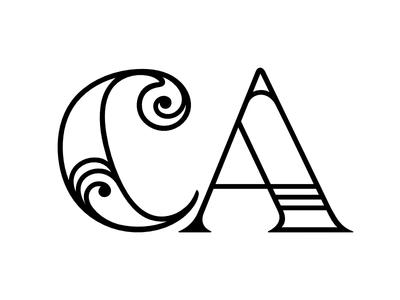 Chloe and Andy Logo california wedding logo ca
