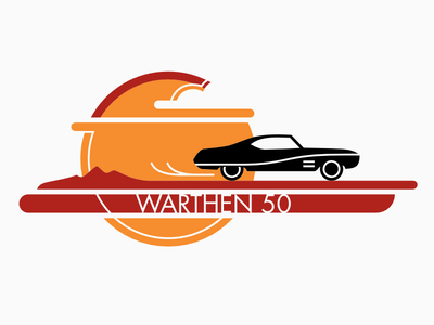 Warthen 50th T-shirt affinity designer ipad pro apple pencil car sunset t-shirt